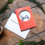 Biglietto di auguri aziendale - Oblò Moto