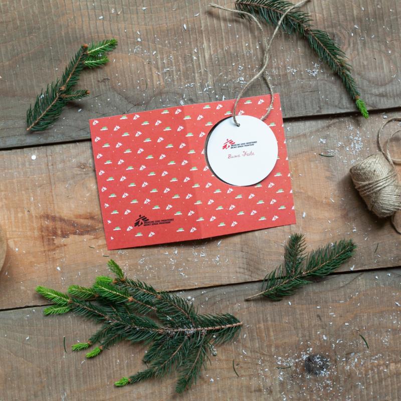 Biglietto di auguri di Natale aziendale- Palla Natale