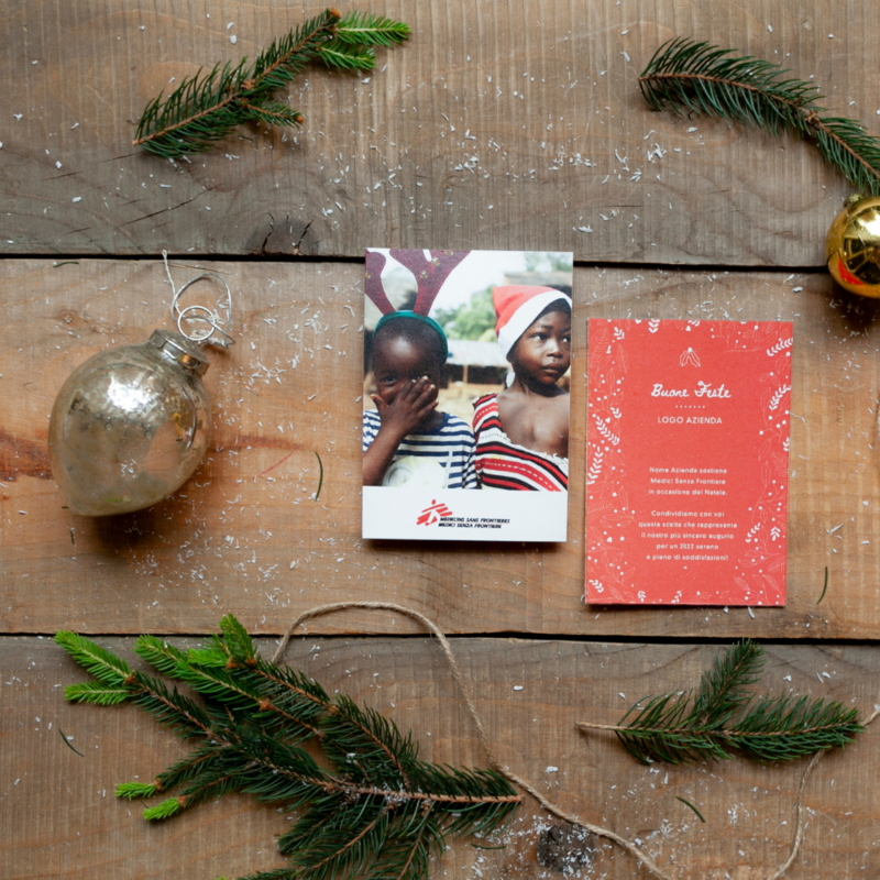 Biglietto d Natale Aziendale - Cartolina Bimbi